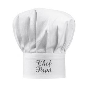Cappello da chef bianco personalizzato