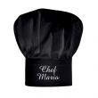 Cappello da chef nero personalizzato