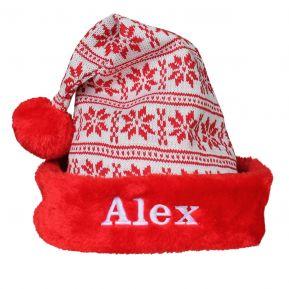 Cappello natalizio in maglia ricamato