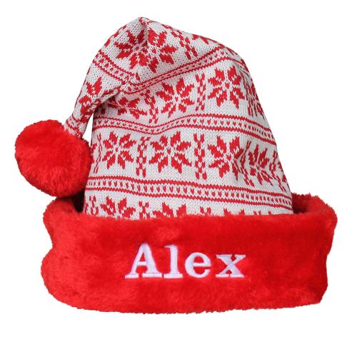 Cappello natalizio maglia personalizzato