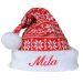 Cappello natalizio maglia personalizzabile
