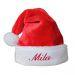 Cappello Natale morbido con nome bambino