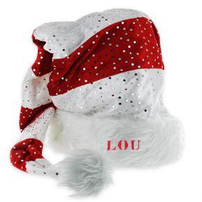 Cappello babbo Natale con paillettes