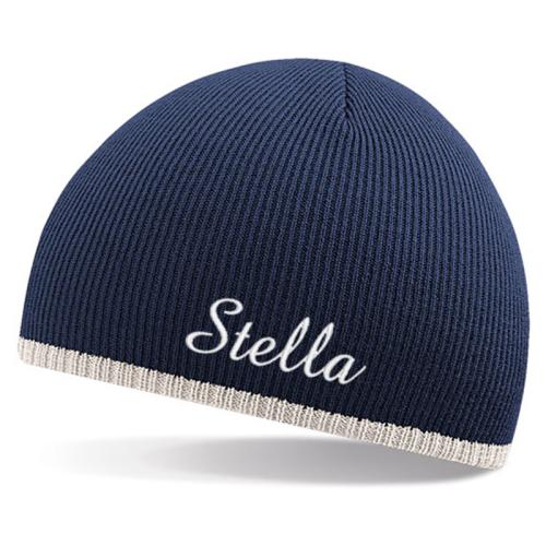 Cappello bicolore personalizzato