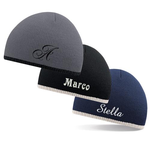 Cappello bicolore ricamato