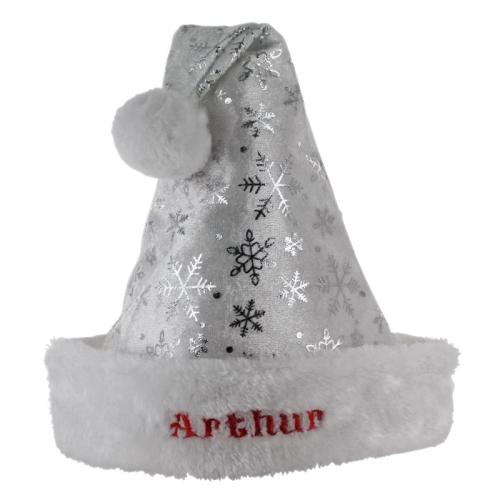 Cappello babbo Natale argentato