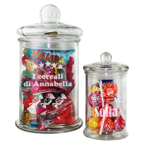 Vasetto per caramelle e cereali con nome