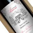 Bottiglia di vino personalizzata La cascina dell'amore