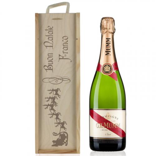 Cassa Champagne Natale personalizzata