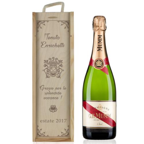 Cassa champagne tradizione personalizzata
