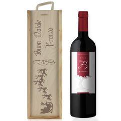Cassa da vino Natale incisa