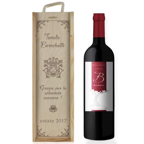 Cassa da vino tradizione personalizzata