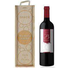 Cassa vino bolle personalizzata