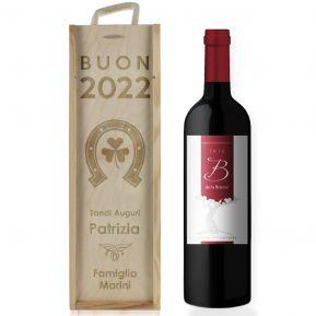 Cassa da vino capodanno incisa