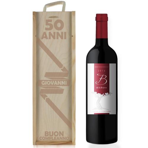 Cassa vino personalizzato compleanno