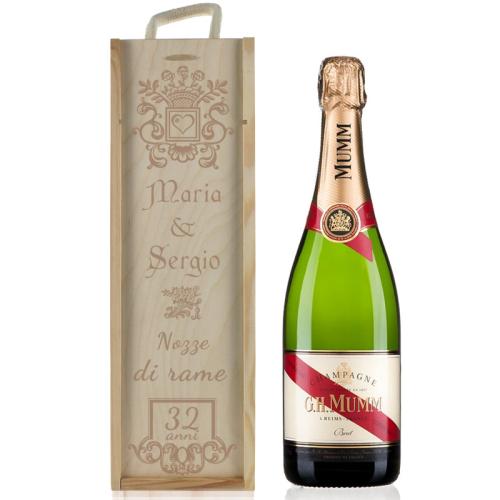 Cassa champagne anniversario matrimonio personalizzata