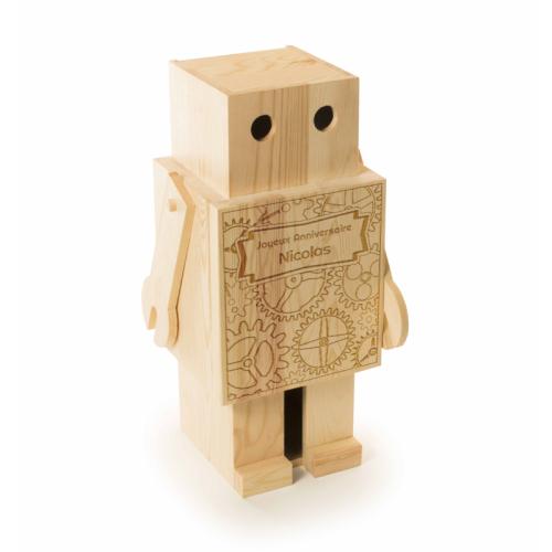 Cassetta vino robot personalizzabile