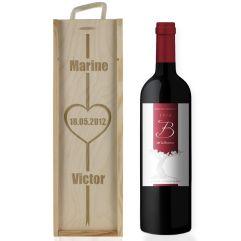 Cassa vino san Valentino incisa