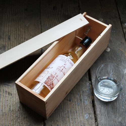 Cassetta per bottiglia di whisky etichetta