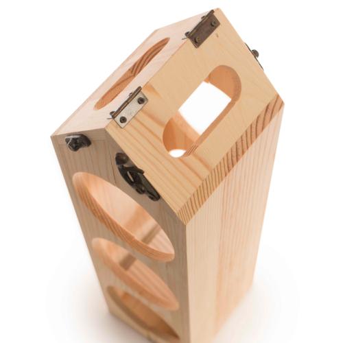 Cassetta vino portabottiglie personalizzabile