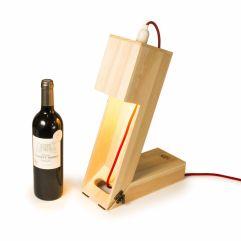 Cassetta da vino convertibile in lampada
