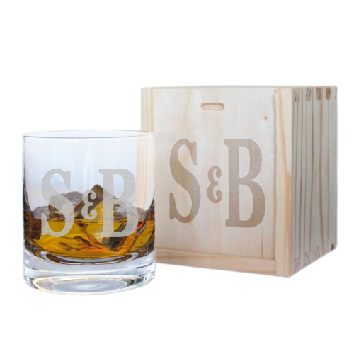 Bicchiere whisky due iniziali