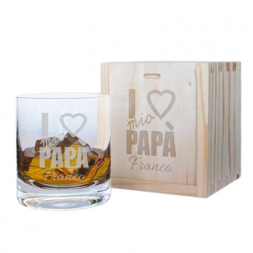 Bicchiere per whisky personalizzato papà