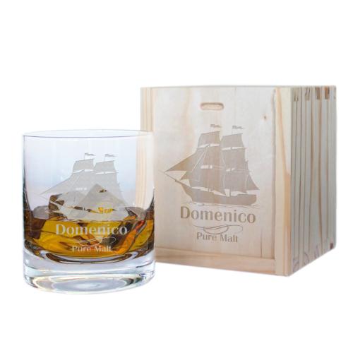 Bicchiere whisky veliero