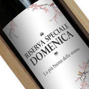 Bottiglia di vino personalizzata Ciliegio