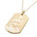 Collana piastrina militare oro