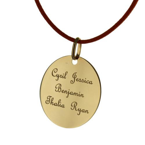 Ciondolo tondo personalizzato oro