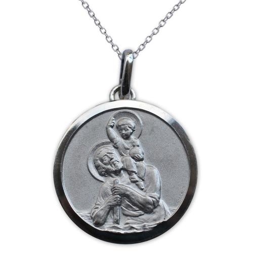 Ciondolo san Cristoforo argento massiccio