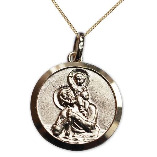 Ciondolo san Cristoforo placcato oro