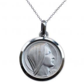 Ciondolo Vergine Maria in argento personalizzato