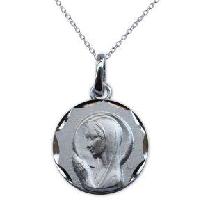 Ciondolo Vergine Maria prega per noi argento massiccio personalizzato