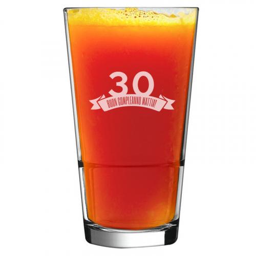 Bicchiere da cocktail compleanno inciso