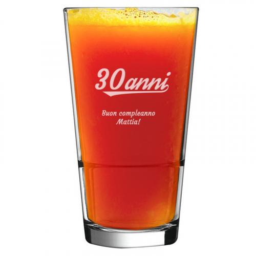 Bicchiere da cocktail per compleanno personalizzato