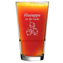 Bicchiere da cocktail con nome inciso