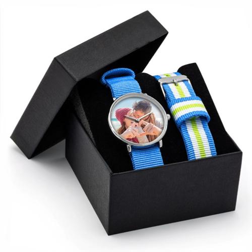 Cofanetto orologio NATO azzurro