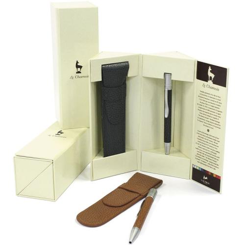Cofanetto e penna in pelle personalizzabile