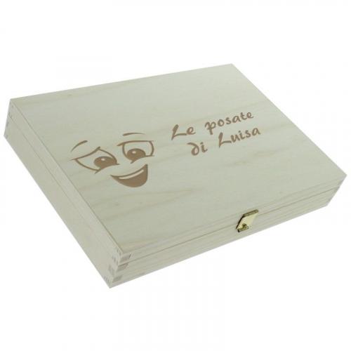 Posate faccine personalizzate - scatola