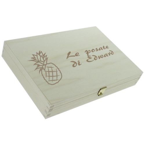 Posate frutta personalizzate - cofanetto