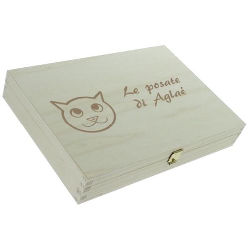 Posate personalizzate gattino - scatola