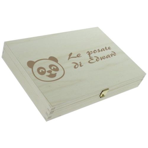 Posate panda personalizzate - cofanetto