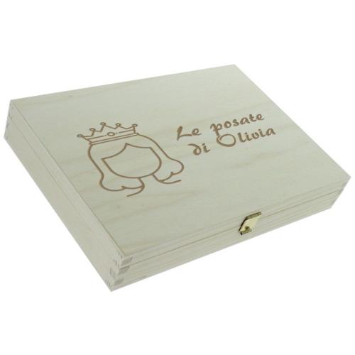 Posate bambine principessa - scatola