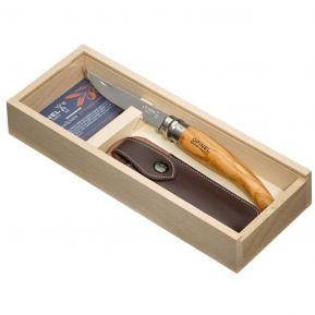 Cofanetto coltello Opinel n°10 affilato ulivo personalizzato
