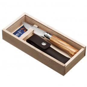 Cofanetto coltello Opinel n°8 ulivo personalizzato