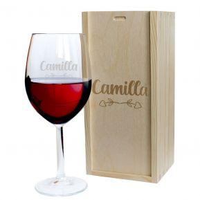 Calice da vino Amore inciso