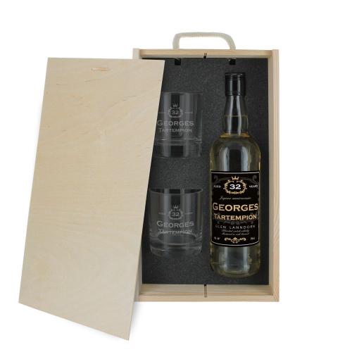 Cofanetto whisky compleanno personalizzabile