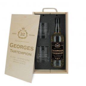 Cofanetto whisky e bicchieri personalizzato compleanno
